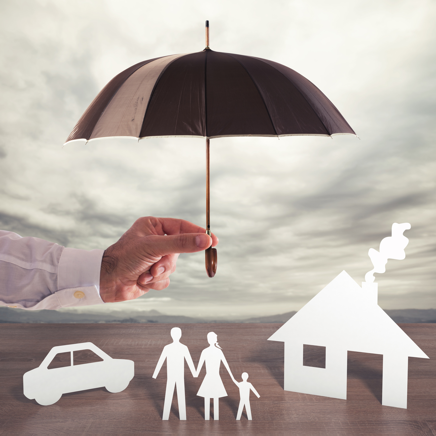 depiction of umbrella insurance