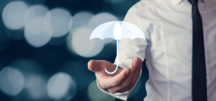 a close up of a person with umbrella icon