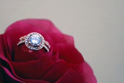 image of ring in rose